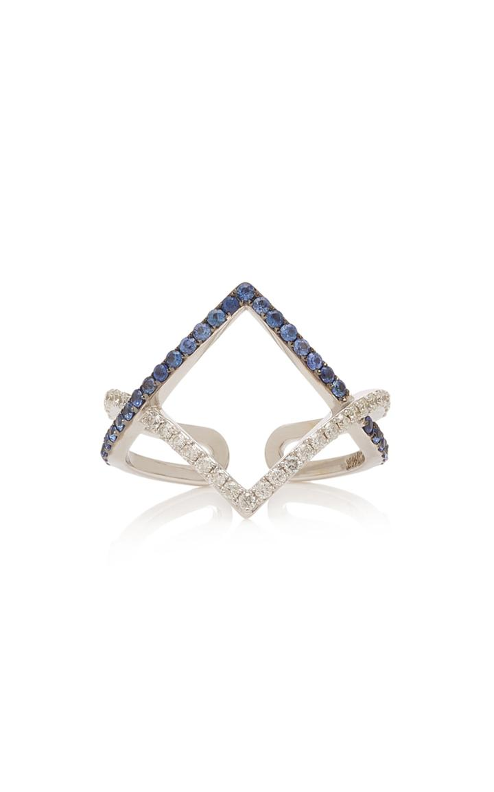 Tullia 14k White Gold, Sapphire And Diamond Ring