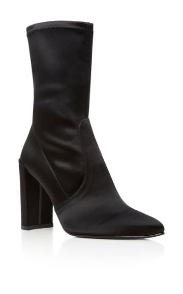 Stuart Weitzman Clinger Stretch-satin Ankle Boots