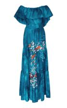 Stella Jean Off The Shoulder Maxi Dress