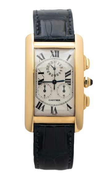 Moda Operandi Stephanie Windsor One Of A Kind Cartier Tank Americaine Chronograph Wa
