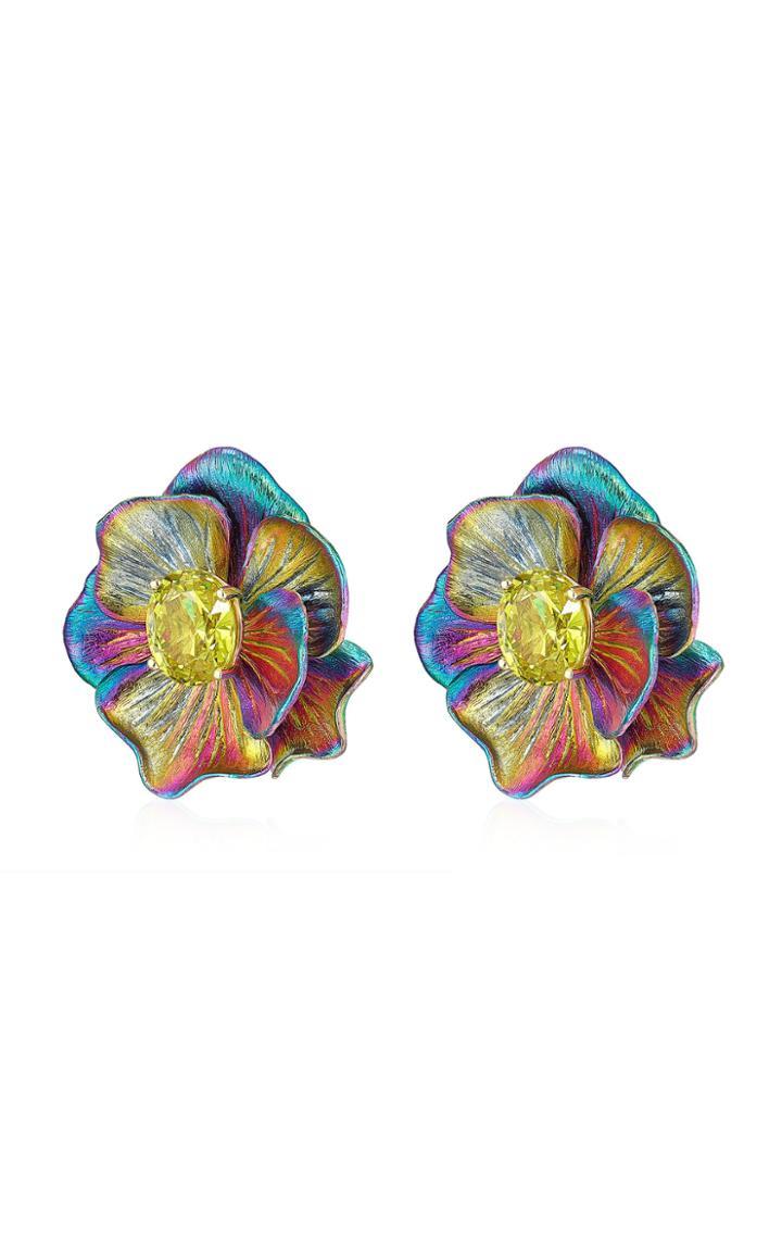 Moda Operandi Anabela Chan Rainbow Bloom Earrings