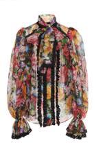 Dolce & Gabbana Pleated Organza Top