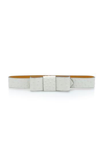 Marni Bow-embellished Textured-leather Belt