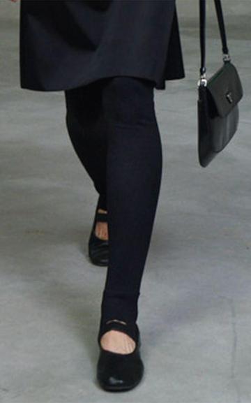 Moda Operandi Prada Leather Ballerina Flats