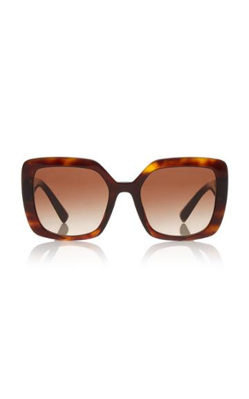 Valentino Logo Square-frame Acetate Sunglasses