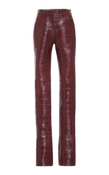 Roberto Cavalli Croc Leather Pant