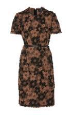 Paule Ka Floral Tweed Short Sleeve Dress