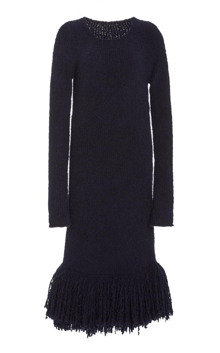 Moda Operandi Marina Moscone Boucl Fringed Dress