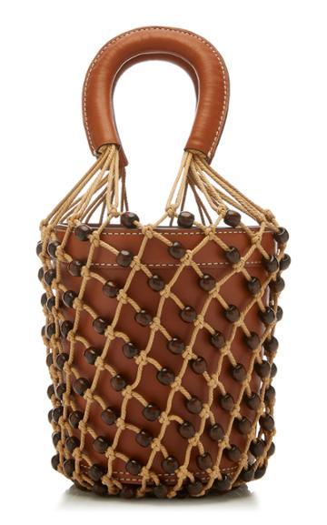 Staud Moreau Macram Leather Bag