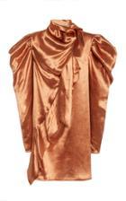 Moda Operandi Ulla Johnson Agatha Draped Satin Mini Dress
