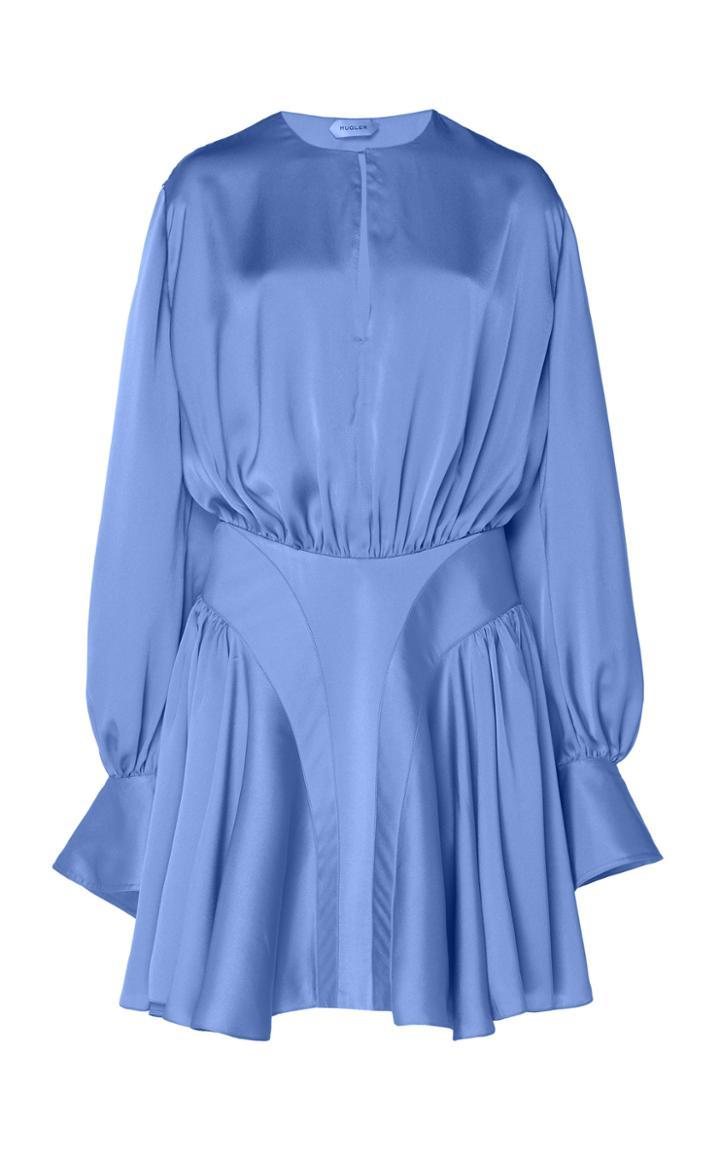Moda Operandi Mugler Draped Satin Mini Dress Size: 36