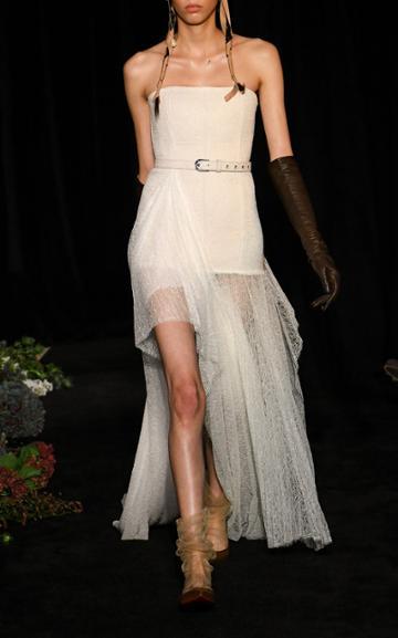 Moda Operandi Danielle Frankel Delphine Pleated Tulle Gown Size: 0