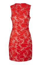 Brandon Maxwell Lizard Jacquard Mini Dress