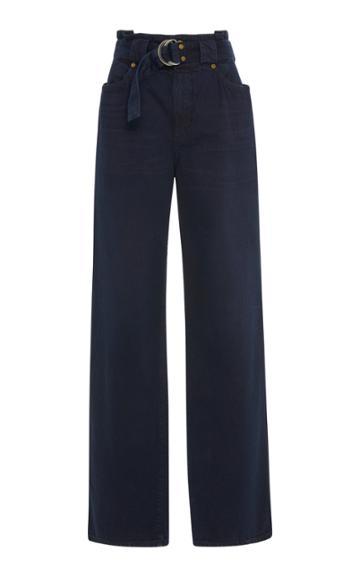 Jean Atelier Belted Wide-leg Jeans