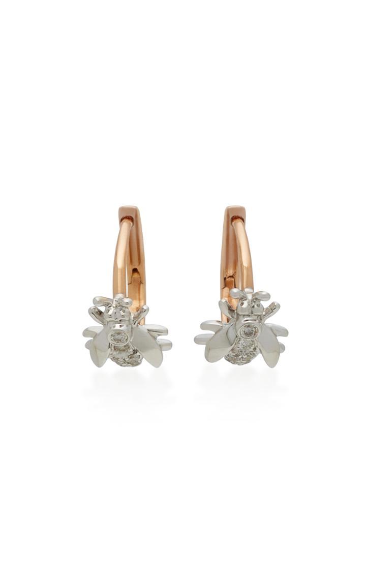 Colette Jewelry Mini Wasp 18k Pink Gold Diamond Earrings