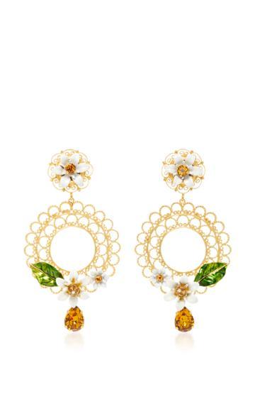 Dolce & Gabbana Daisy Clip Earrings