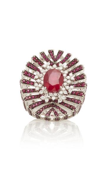 Hueb Apus Ruby Ring
