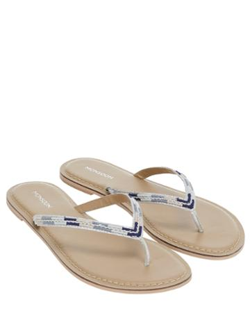 Monsoon Erin Embroidered Flip Flops