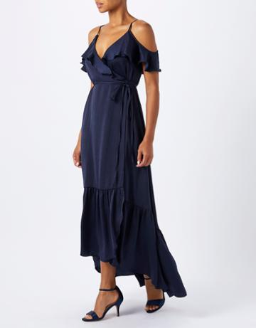 Monsoon Olivia Ruffle Wrap Dress