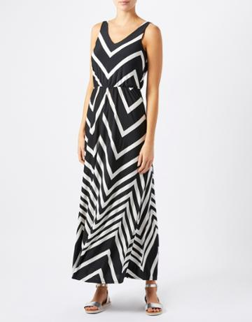 Monsoon Khloe Shorter Length Stripe Maxi Dress