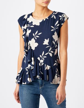 Monsoon Misha Magnolia Ruffle Top