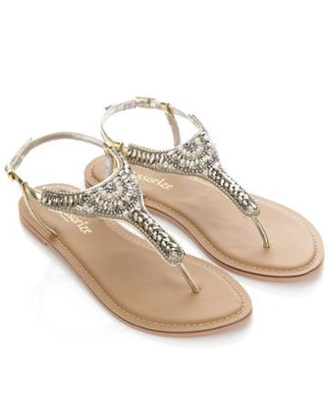 Monsoon Petrus Embellished Sandals