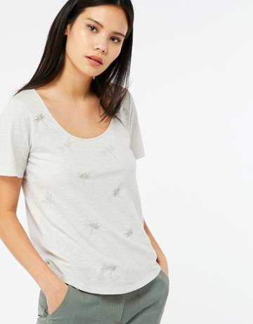 Monsoon Delilah Dragonfly Embroidered T-shirt
