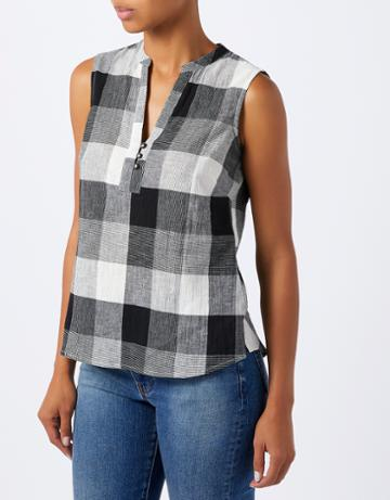 Monsoon Kya Sleeveless Check Shirt