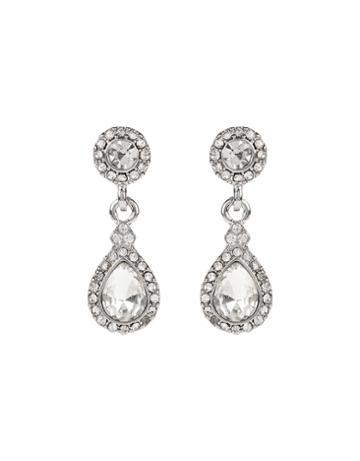 Monsoon Short Sparkle Teardrop Earrings