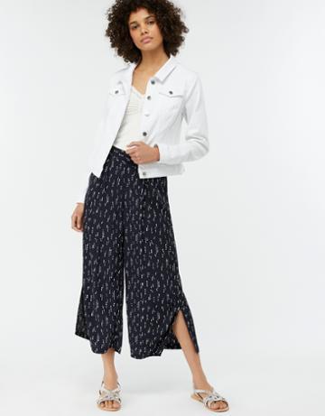 Monsoon Harper Printed Crop Trousers