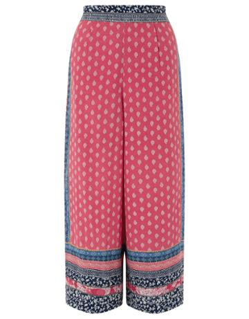 Monsoon Lorenna Print Cropped Trousers