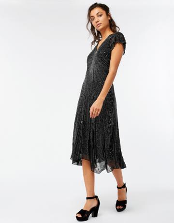 Monsoon Triton Embellished Midi Dress