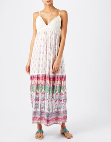 Monsoon Saffron Crochet Maxi Dress