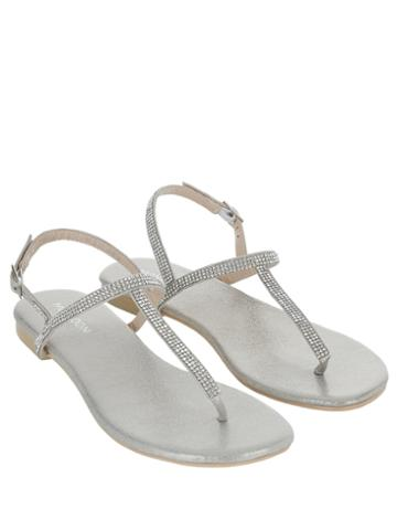 Monsoon Dina Diamante Sparkle Flat Sandals