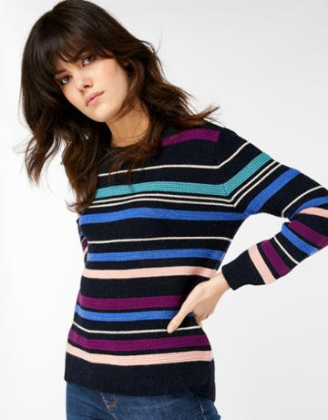 Monsoon Miley Multi Stripe Links Jumper