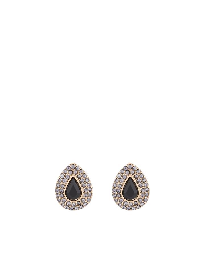 Monsoon Teardrop Crystal Stud Earrings