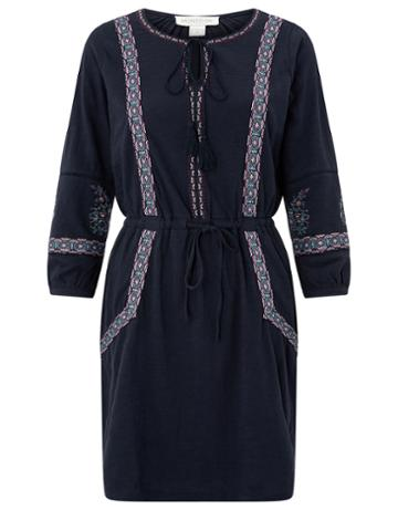 Monsoon Alessandra Embroidered Short Dress