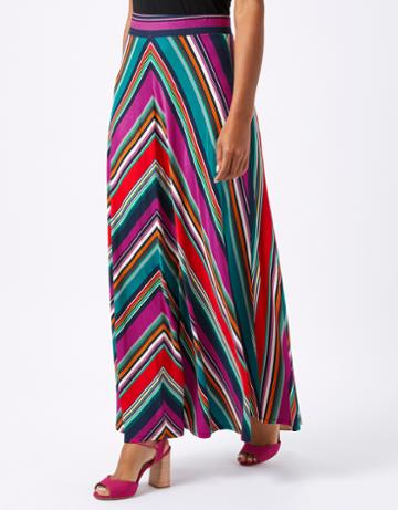 Monsoon Savannah Stripe Maxi Skirt