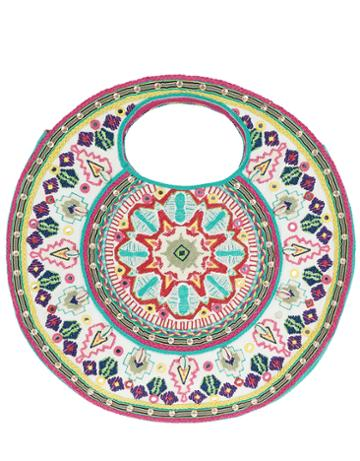 Monsoon Hope Handheld Round Embroidered Bag