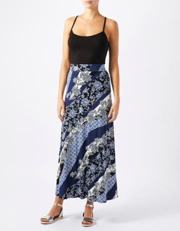 Monsoon Rhona Print Shorter Length Maxi Skirt