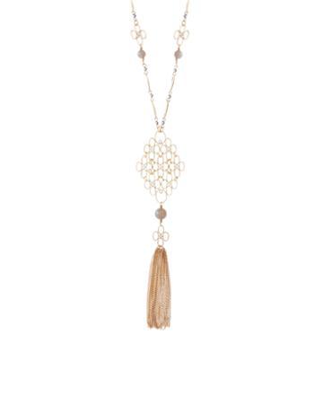 Monsoon Filigree Pendant Tassel Necklace