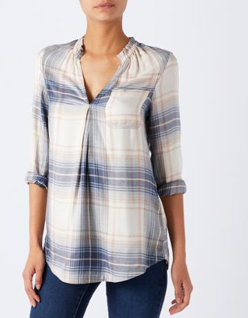 Monsoon Elory Longline Check Shirt