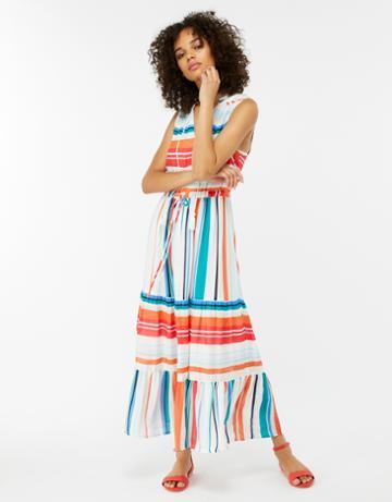 Monsoon Rosie Stripe Drawstring Dress