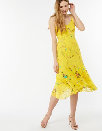 Monsoon Hermosa Embellished Midi Dress