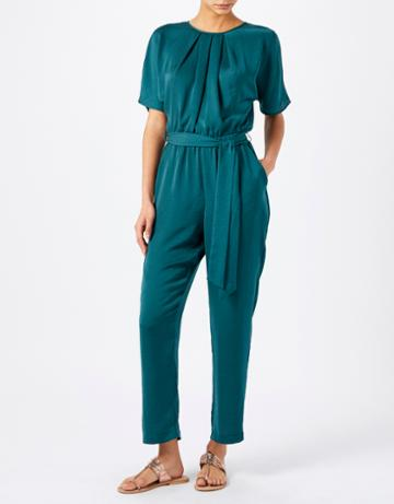 Monsoon Winona Washer Satin Jumpsuit