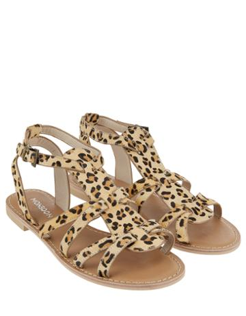 Monsoon Lulu Leopard Gladiator Sandals