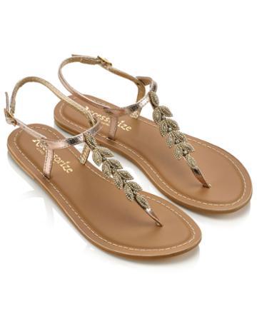 Monsoon Lara Leaf Sandals