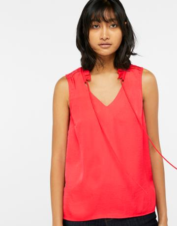 Monsoon Wisteria Woven Front Sleeveless Top