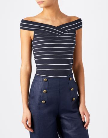 Monsoon Audrina Stripe Bardot Top
