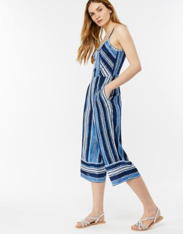 Monsoon Layney Stripe Print Jumpsuit